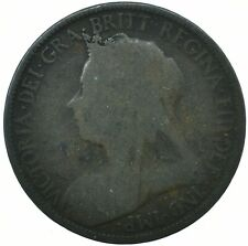 1900 HALF PENNY GB UK QUEEN VICTORIA COLLECTIBLE COIN    #WT31626