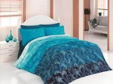 6 tlg Bettwäsche Bettgarnitur 100% Baumwolle Bettbezug Kissen 220x240 cm EBRU BL