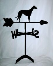 Greyhound roof mount weathervane black wrought iron look made in usa