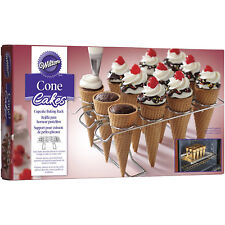 Wilton 12 Cavity Cupcake Cone Cake Baking Icing Decorating Ice Cream Party Rack