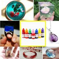 Curing Dye Colorant Liquid Pigment Mix Colors Epoxy UV-Resin Ultraviolet 10 Y8S8