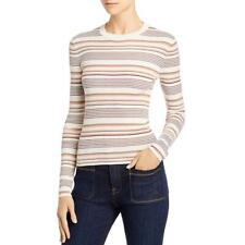 Frame Womens Ribbed Crewneck Shirt Sweater Top BHFO 2919