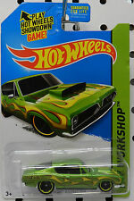 1968 GREEN 68 SUPER STOCK HEMI CUDA DRAG RACE CAR PLYMOUTH BARRACUDA HOT WHEELS