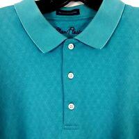 Alan Flusser Mens Polo Golf Shirt L Large Short Sleeve 100% Cotton Mercerized