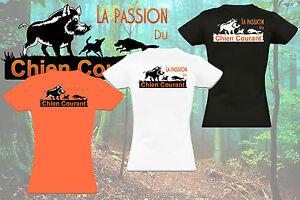 T-shirt FEMME LA PASSION DU CHIEN COURANT