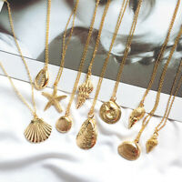 Summer Women Fashion Conch Shell Pendant Clavicle Chain Necklace Jewelry Gift
