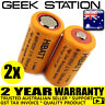2x HIGH DRAIN IMR 18350 700mAh 3.7V Rechargeable Lithium Battery Li-ion 14a