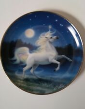 The Diamond Unicorn Collector Plate Franklin Mint Fine Porcelain by Kirk Reinert