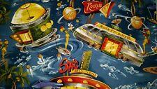 Lined Valance 42X15 Retro Space Future World Sonic Rocket Diner Orbit Burgers