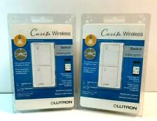 2 PACK- LUTRON CASETA WIRELESS SWITCH PD-5ANS-WH-R WHITE LIGHTING FAN