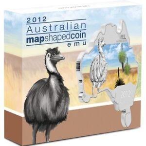 Australian Map Shaped Coin Series - Emu 2012 1oz Silver Coin 2012