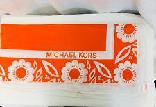 Michael Kors Island Hawaii Orange Beach Sarong Scarf Cover Up.