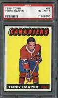 1965 TOPPS #68 TERRY HARPER PSA 8 CANADIENS *CG0526