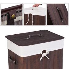 Wäschekorb Wäschebox Wäschetruhe Wäschekörbe Wäschesammler Bambus 72L