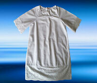 GIRLS BEACH SUMMER DRESS KAFTAN WHITE TUNIC COVER UP AGE 3 4 5 6 7 8 9 10 YEARS