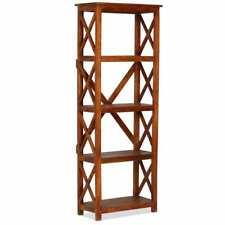 Vidaxl legno massello di Acacia e Sheesham Libreria Armadietto Mobile Scaffali