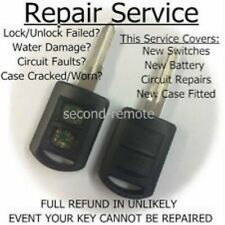 Repair service for Vauxhall Corsa 2 button remote key fob complete refurbishment
