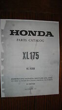 HONDA XL175 1st EDITION PUBLISHED 6/1/73 PARTS CATALOG MANUAL
