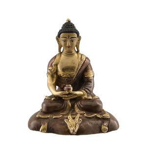 Soprammobile Tibetano Budda Amitabha Rame E Doratura Nepal Budda AFR9-1653