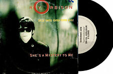 "ROY ORBISON - SHE'S A MYSTERY TO ME - 7"" 45 VINYL RECORD POSTER PACK 1989"