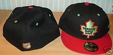 Toronto Maple Leafs Custom New Era Hat Cap Lime 7 3/8