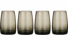 Stylish Set of 4 Crescendo Smoke Grey Mixer Tumblers Drinks Glasses Bar Glass