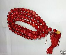 45 Grams Red Coral Fabulous Quality 100% Natural Sea Bead Prayer Mala 6.65mm RC1