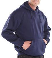 Click Navy Blue Heavyweight Hooded Top Sweatshirt Polycotton Hoody Hoodie Work