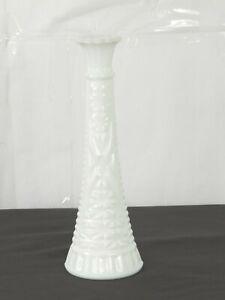 "Vintage Milk Glass Vase Hobnail Vase 9"" Tall"