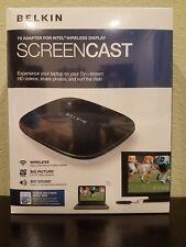 BRAND NEW Belkin ScreenCast TV Adapter Intel Wireless Display Full HD F7D4501