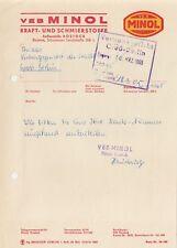 ROSTOCK, Brief 1965, VEB Minol Kraft-Schmierstoffe