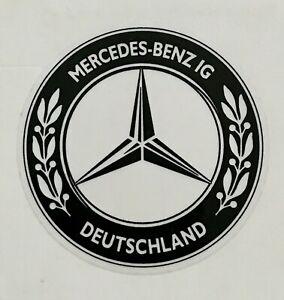 MBIG Aufkleber rund Stern Mercedes Benz IG  schwarz Daimler Benz