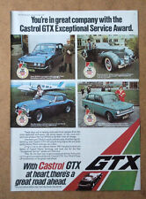 CASTROL GTX - OIL AND SERVICE - 1975 ORIGINAL ADVERT POSTER FREE UK P&P