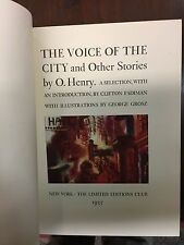 O Henry Voice of The City Limited Editions Club 1935 Fine Copy w/slipcase Signed
