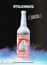 PUBLICITE ADVERTISING 116  1988  La vodka russe Stolichnaya