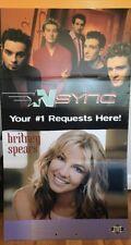 Britney Spears Nsync Justin Timberlake HUGE 6 Foot X 3 Foot 3lb Cardboard Poster