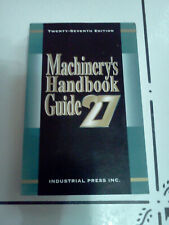 MACHINERY'S HANDBOOK GUIDE 27th Edition, VG, 270 pages, Paperback