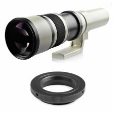 Super Telephoto Lens With T2 Adapter for Canon 500mm F/6.3-32 Manual Zoom Len KO
