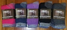 6 PAIRS LADIES SZ 3-8 MIXED MERINO WOOL THERMAL CUSHION FOOT WORK SOCKS