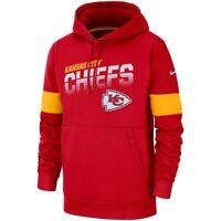 Nike 2019 Kansas City Chiefs Sideline Team Logo Performance Hoodie Sweatshirt