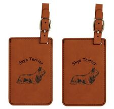 L3992 Skye Terrier Luggage Tags 2Pk Free Shipping