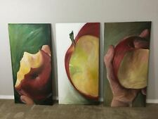 Set of Apple Acrylic Paintings