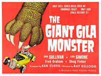 1959 THE GIANT GILA MONSTER VINTAGE MOVIE POSTER PRINT 27x36 9MIL PAPER