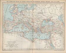Landkarte map 1900: DAS RÖMISCHE REICH - GRÖSSTE AUSDEHNUNG UNTER TRAJAN. ROM