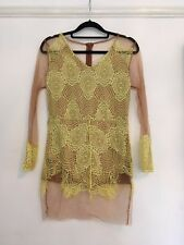 Women's Unbranded / Yellow Lace/ Sheer Nude Top / Size M