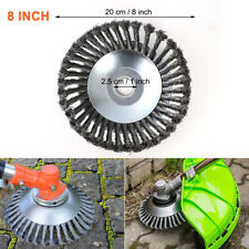 "8"" Trimmer Head Grass Strimmer Steel Wire Wheel Mower Weed Brush Cutter Outdoor"
