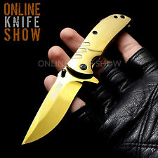 GOLD TAC FORCE SPRING ASSISTED TACTICAL FOLDING KNIFE EDC Open Pocket Blade NEW