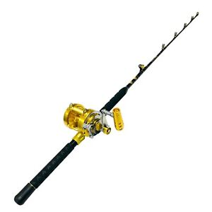 EatMyTackle 30 Wide 2 Speed Reel on a 30-50lb. Blue Marlin Tournament Rod