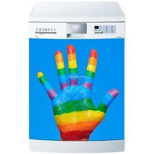 Magnet lave vaisselle Main de couleurs 60x60cm réf 571 571