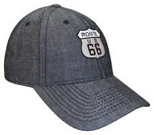 Black Denim US Route 66 Will Rogers Highway Hwy Ball Cap Caps Hat Hats Jeans